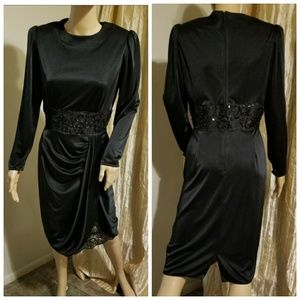 1980s Black dress